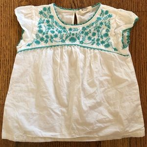 Mini boden embroidered blouse